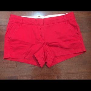 J CREW RED Chino Shorts